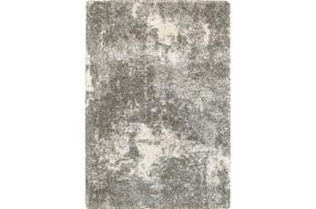 79X114 Rug-Beverly Shag Lt Grey Faded