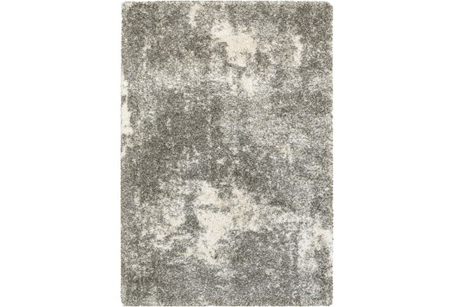 79X114 Rug-Beverly Shag Lt Grey Faded - 360