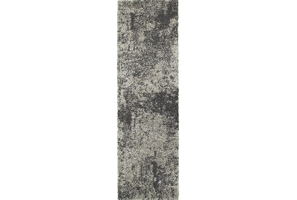 27X90 Rug-Beverly Shag Graphite Faded