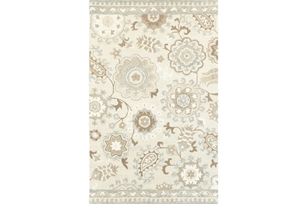 120X156 Rug-Tinley Stylized Floral Taupe