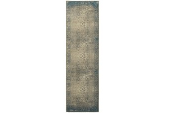 27X90 Rug-Bastile Faded Grey