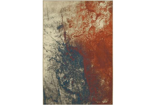 118X154 Rug-Azaiah Orange/Blue - 360