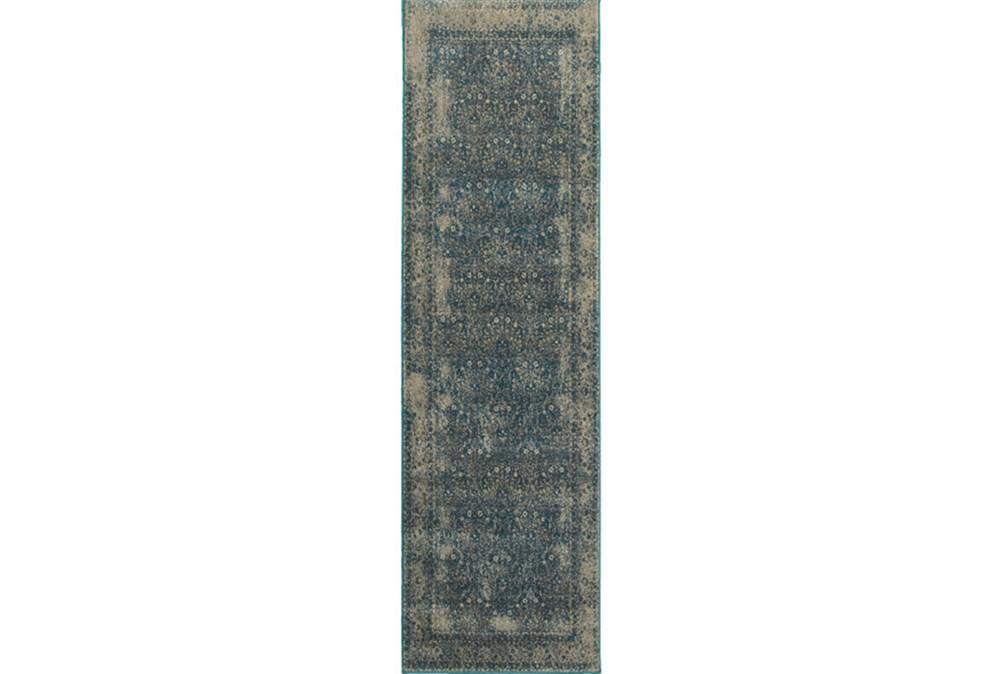 27X90 Rug-Cashel Dark Blue