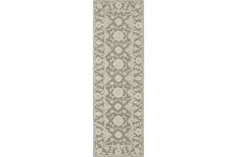 30X96 Rug-Agatha Medallion Grey