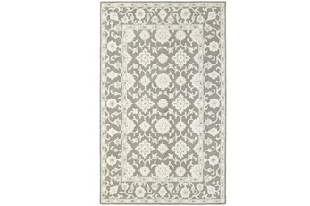 96X120 Rug-Agatha Medallion Grey