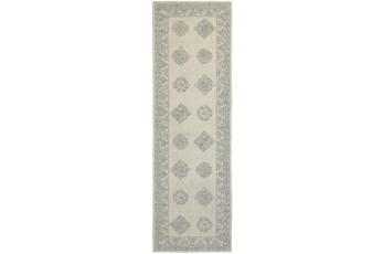 30X96 Rug-Agatha Diamonds Grey