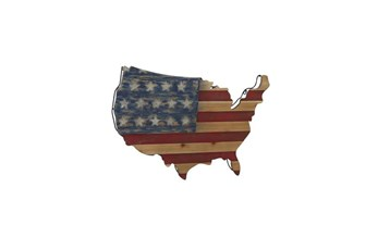 22 Inch America Wood Wall Decor