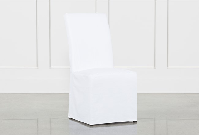 Pearson White Slipcovered Side Chair - 360