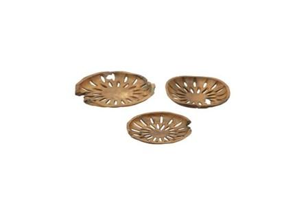 3 Piece Set Teak Bowls