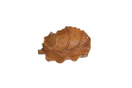 22 Inch Wooden Leaf Bowl