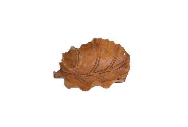 22 Inch Wooden Leaf Bowl - 360