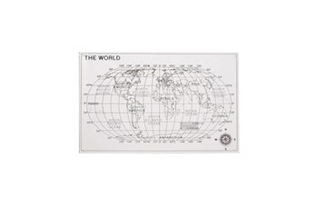 25 Inch Acrylic Map Wall Decor