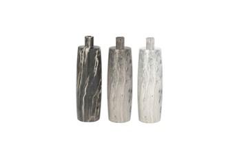 13 Inch Marble Porcelain Vase