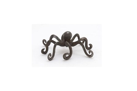 4 Inch Dark Metal Octopus