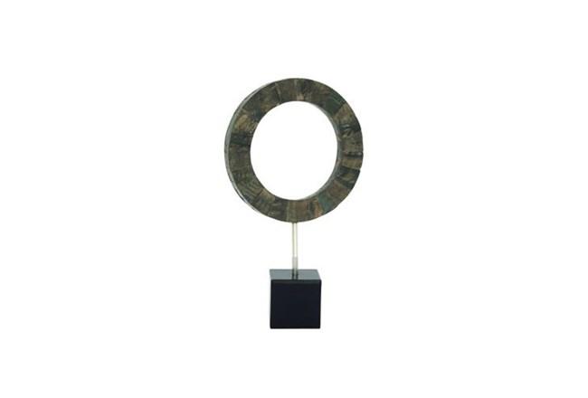 19 Inch Black Circle Resin Sculpture - 360