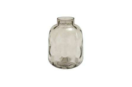 11 Inch Smoke Glass Vase