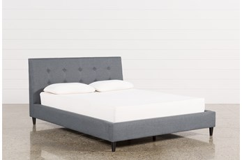 Kenneth Eastern King Upholstered Panel Bed