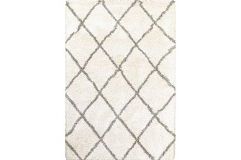 22X39 Rug-Beverly Shag Diamond Ivory
