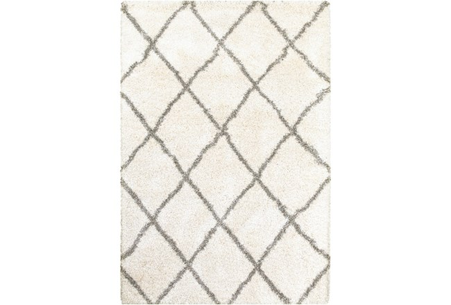 22X39 Rug-Beverly Shag Diamond Ivory - 360