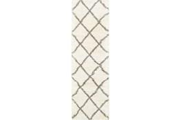 27X90 Rug-Beverly Shag Diamond Ivory