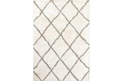 63X90 Rug-Beverly Shag Diamond Ivory