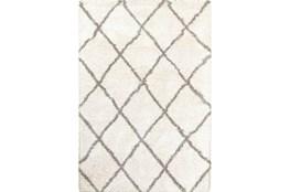94X130 Rug-Beverly Shag Diamond Ivory