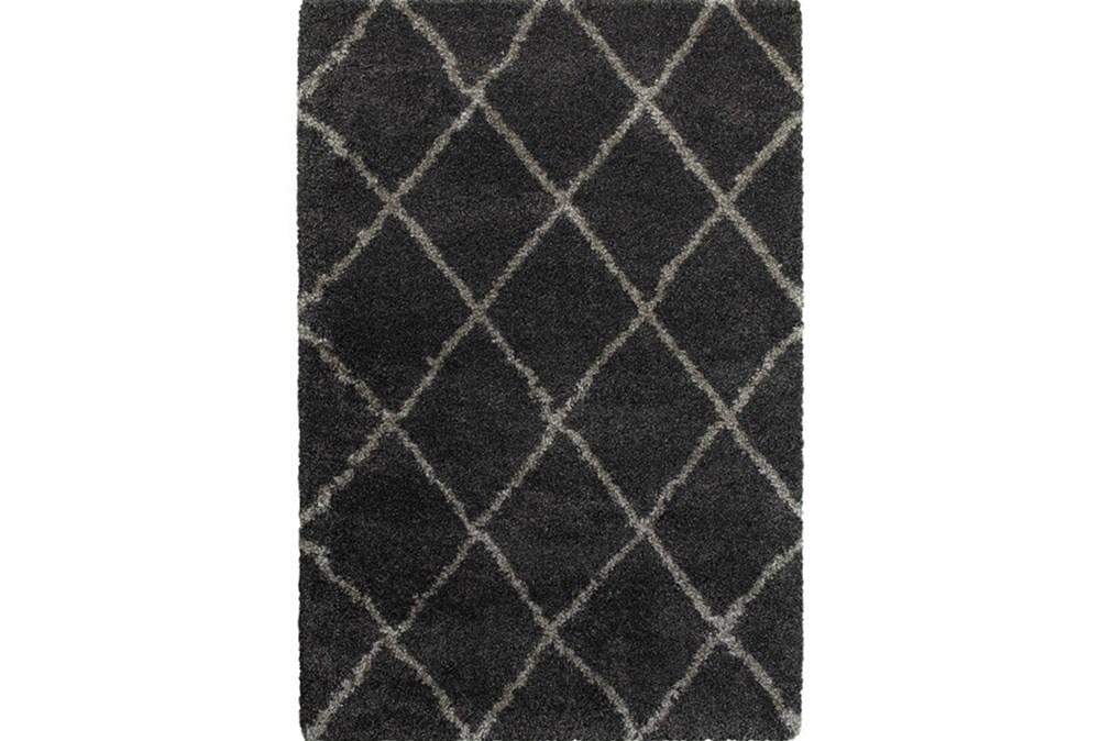22X39 Rug-Beverly Shag Diamond Graphite