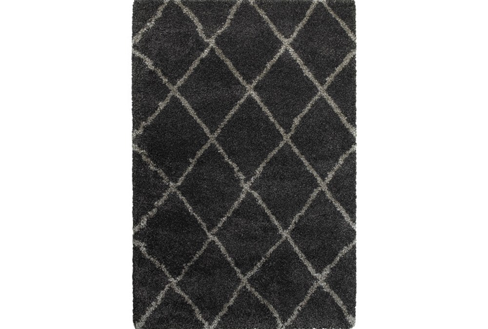 63X90 Rug-Beverly Shag Diamond Graphite