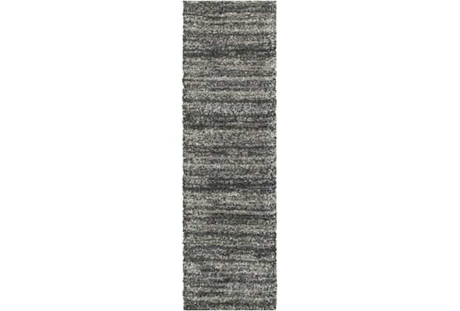 27X90 Rug-Beverly Shag Stripe Grey - 360