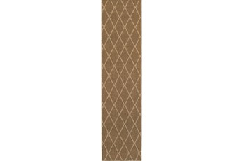 22X90 Outdoor Rug-Gemma Diamond Brown