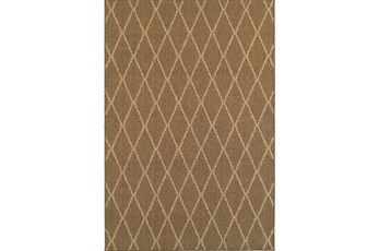 39X60 Outdoor Rug-Gemma Diamond Brown