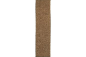 22X90 Outdoor Rug-Gemma Solid Brown