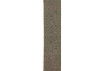 22X90 Outdoor Rug-Gemma Herringbone Grey