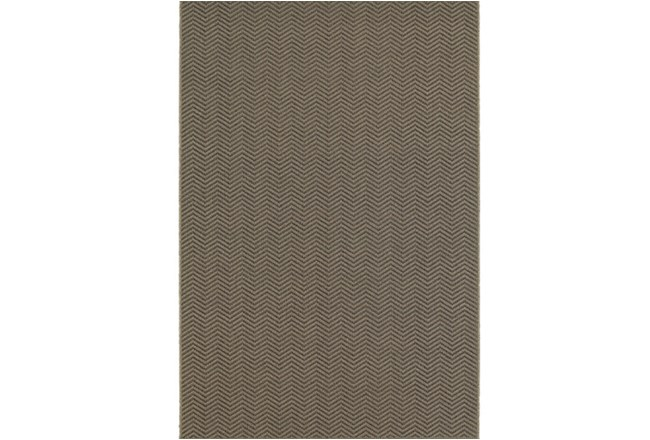 94X130 Outdoor Rug-Gemma Herringbone Grey - 360