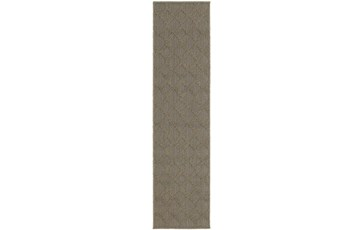 22X90 Outdoor Rug-Gemma Diamond Grey