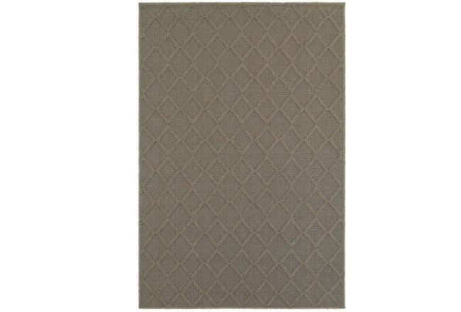 118X154 Outdoor Rug-Gemma Diamond Grey - 360
