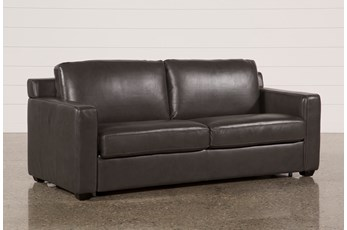 Nolan Leather Dark Grey Sleeper
