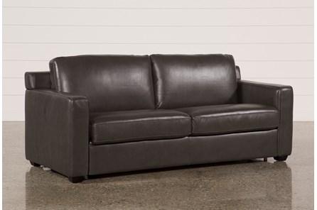Nolan Leather Dark Grey Sleeper