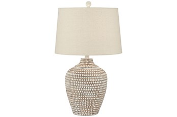 Table Lamp-Hammered White Wash