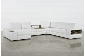 Larimar Stone 5 Piece Sectional W/Laf Chaise & Usb