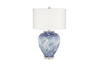 Table Lamp-Blue Wash Bulb