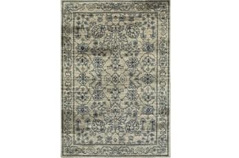 79X114 Rug-Acanthus Traditional Grey/Navy