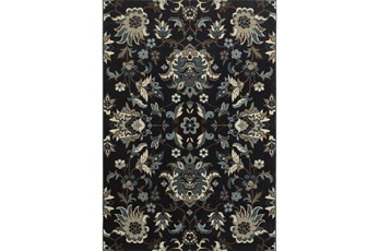 46X65 Rug-Acanthus Traditional Navy