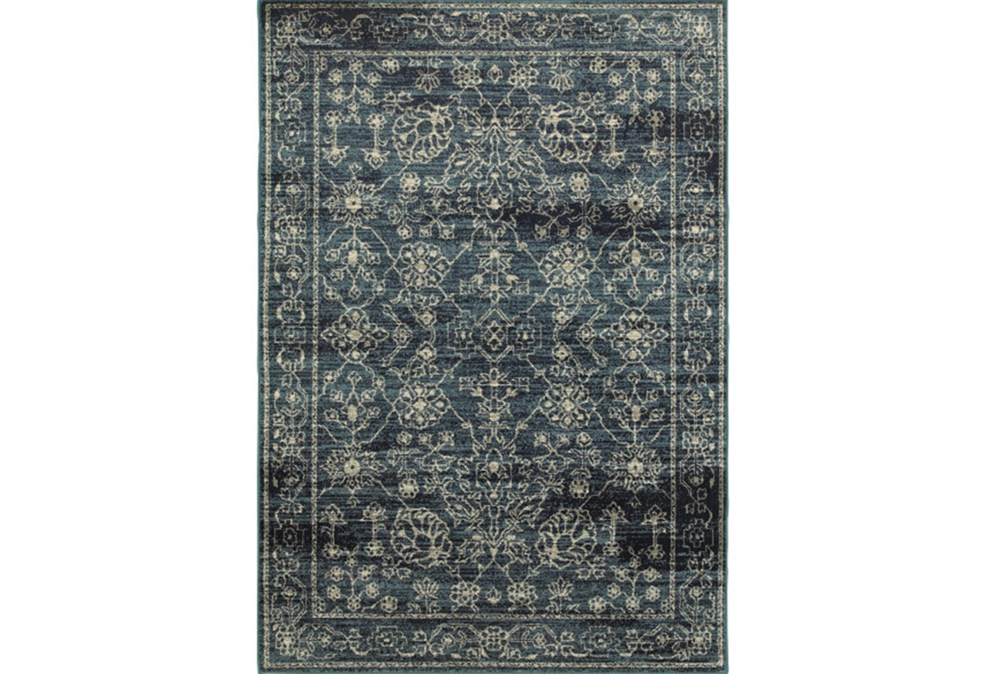 79X114 Rug-Acanthus Traditional Navy