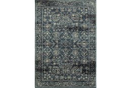 94X130 Rug-Acanthus Traditional Navy