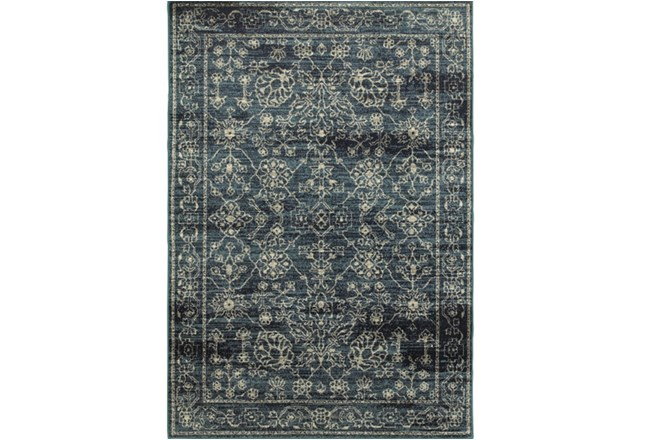 94X130 Rug-Acanthus Traditional Navy - 360