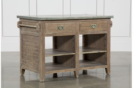 Pine Wood & Stone 51 Inch Kitchen Island