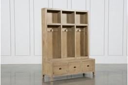 Pine Wood 3-Drawer Entry Way Bench