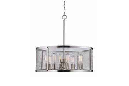 Pendant-Drexel Nickel 8-Light