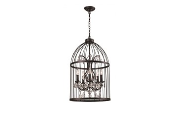 Chandelier-Caged Crystal